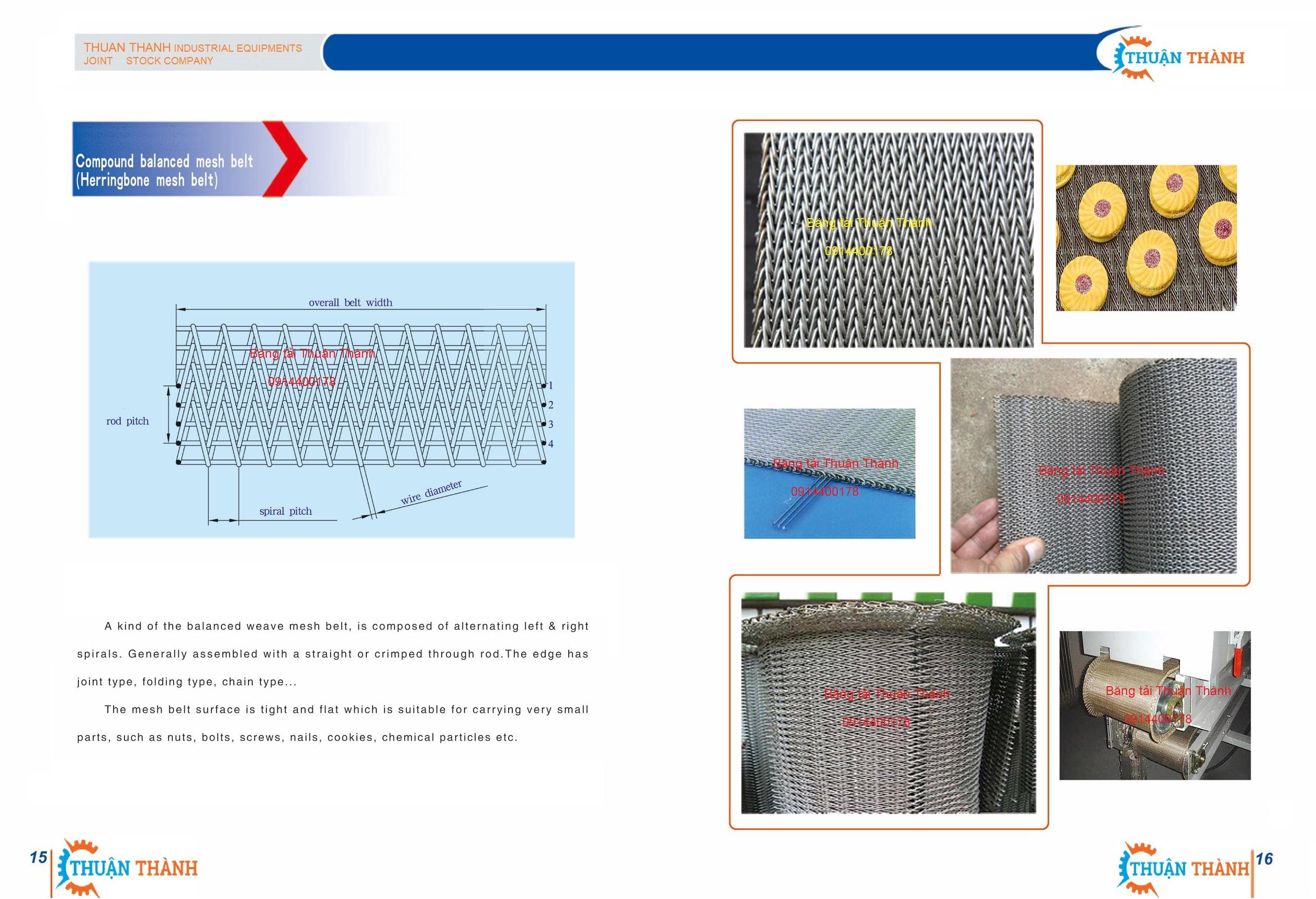 Băng tải Inox 304 dạng xoắn cho ngành đông lạnh, thủy hải sản và bánh kẹo